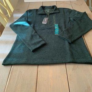 Eddie Bauer Mens Sweater Fleece Qtr. Zip Pullover